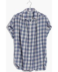 Madewell - Central Open-back Shirt In Linus Plaid - Lyst
