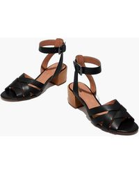 9cc579f3b19 Lyst - Madewell The Regina Ankle-strap Sandal in Black