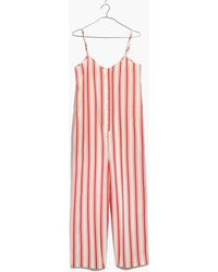 Madewell - Striped Cami Jumpsuit - Lyst
