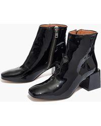 Madewell - Loq® Lazaro Patent Boots - Lyst