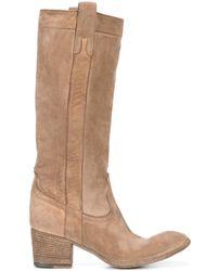 Fauzian Jeunesse - Fango Brown Leather Worn Look Boots - Lyst