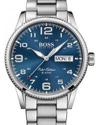 BOSS - Pilot Watch Silver - Lyst