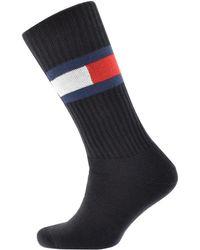 Tommy Hilfiger - Logo Flag Socks Navy - Lyst
