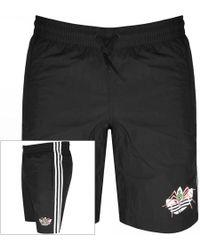 cabc4a5f67 Lyst - adidas Originals Mens 3 Stripe Swim Shorts Black in Black for Men