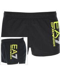 583ef4a9ab EA7 Emporio Armani Colour Block Swim Shorts - Yellow in Yellow for Men -  Lyst