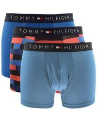 Tommy Hilfiger - Underwear 3 Pack Trunks Blue - Lyst