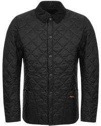 Barbour - Liddesdale Heritage Quilted Jacket Black - Lyst