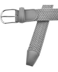 Andersons - Andersons Woven Belt Silver - Lyst