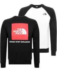 The North Face - Raglan Redbox Sweatshirt Black - Lyst