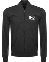 EA7 - Full Zip Sweatshirt Grey - Lyst