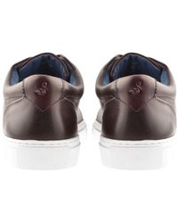 Oliver Sweeney - Sweeney London Hayle Leather Trainers Burgundy - Lyst