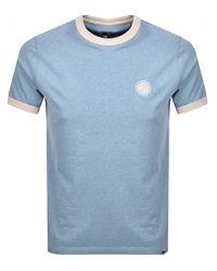 Pretty Green Milford Logo T Shirt Blue