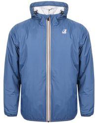 K-Way - Le Vrai 3.0 Claude Orsetto Jacket Blue - Lyst