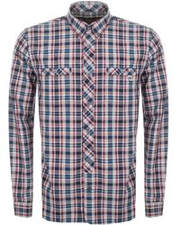 Pretty Green - Langholme Check Shirt Navy - Lyst