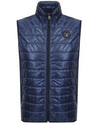 Napapijri - Acalmar Quilted Gilet Jacket Blue - Lyst