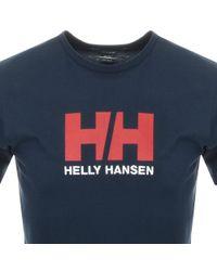 Helly Hansen - Logo T Shirt Navy - Lyst