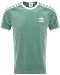 934862ce adidas Originals Cozy Velour T Shirt Black in Black for Men - Lyst