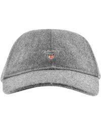 Lyst - GANT Melton Cap Black in Black for Men f2bf90584622