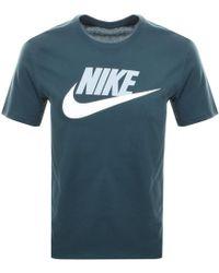 Nike - Futura Icon T Shirt Green - Lyst