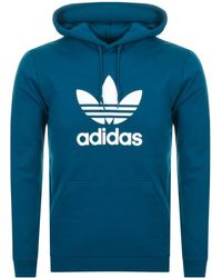 adidas Originals - Trefoil Hoodie Blue - Lyst