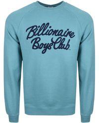 d208e1d7282 BBCICECREAM - Billionaire Boys Club Script Logo Sweatshirt Blue - Lyst