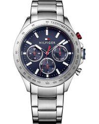 4b9410a6afc Lyst - Tommy Hilfiger Cooper Bracelet Watch In Silver 41mm in ...
