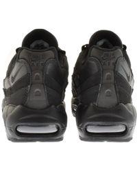 a6d021707d Lyst - Nike Air Max 95 Premium Trainers Black in Black for Men