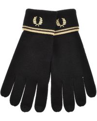 Fred Perry - Twin Tipped Touch Screen Gloves Black - Lyst