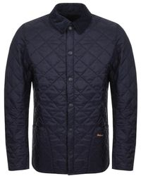 Barbour - Liddesdale Quilted Jacket Navy - Lyst