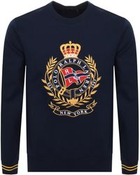 Ralph Lauren - Double-knitted Graphic Crest Sweatshirt - Lyst