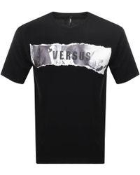 c4e47d4f3 Versus - Logo T Shirt Black - Lyst