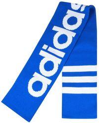 adidas - Originals Logo Scarf Blue - Lyst