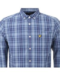 Lyle & Scott - Lyle And Scott Long Sleeved Checked Shirt Blue - Lyst