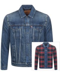 Levi's - Reversible Denim Trucker Jacket Blue - Lyst