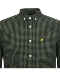 Lyle & Scott - Lyle And Scott Long Sleeved Gingham Shirt Green - Lyst