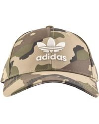 92a5c3d7957 adidas Originals Camouflage Logo Cap in Green for Men - Lyst
