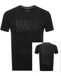 Lyst - Armani Exchange Back Logo T-shirt in Black for Men 0ec31bf292