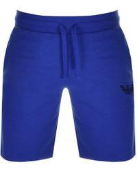 Armani - Emporio Loungewear Shorts Blue - Lyst