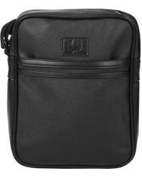 Fred Perry - Saffiano Shoulder Bag Black - Lyst