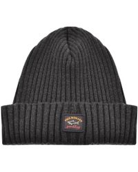 Paul & Shark - Paul And Shark Knitted Beanie Grey - Lyst