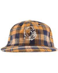 4af5a25594 Aquascutum Kiril Club Check Baseball Cap In Camel for Men - Lyst