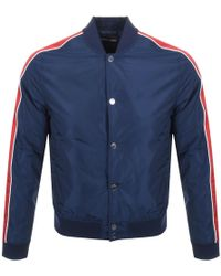 Michael Kors Stripe Baseball Jacket Navy - Blue