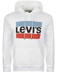 Levi's | Graphic Logo Hoodie White | Lyst