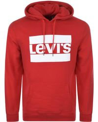 Levi's | Graphic Logo Hoodie Red | Lyst