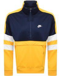 Nike - Half Zip Track Sweatshirt Yellow - Lyst