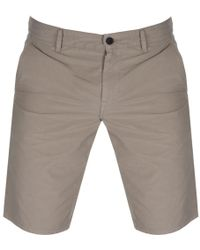 BOSS by Hugo Boss - Boss Orange Schino Slim Shorts Beige - Lyst