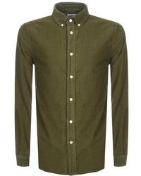 Paul Smith - Ps By Long Sleeved Corduroy Shirt Green - Lyst