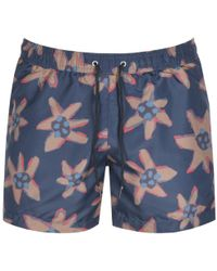 eaadd961c7 Paul Smith - Ps By Floral Swim Shorts Navy - Lyst
