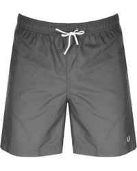 Fred Perry - Textured Swim Shorts Grey - Lyst