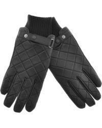 Barbour - Quilted Leather Gloves Black - Lyst